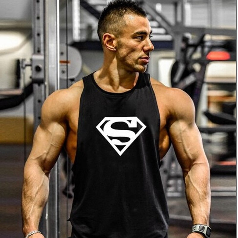 2018 Stringers Tank Top Men Golds Fitness LOA Fitness Singlet Vest Sleeveless Muscle Shirt Undershirt Clothes-geekbuyig