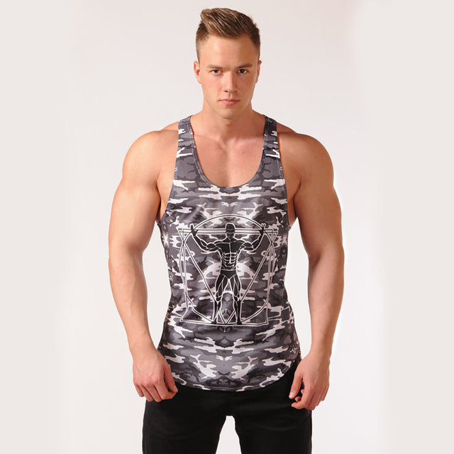Men Tank Top Army Camo Camouflage Mens Stringers Tank Tops Singlet Brand Clothing Fitness Sleeveless Shirt Workout-geekbuyig