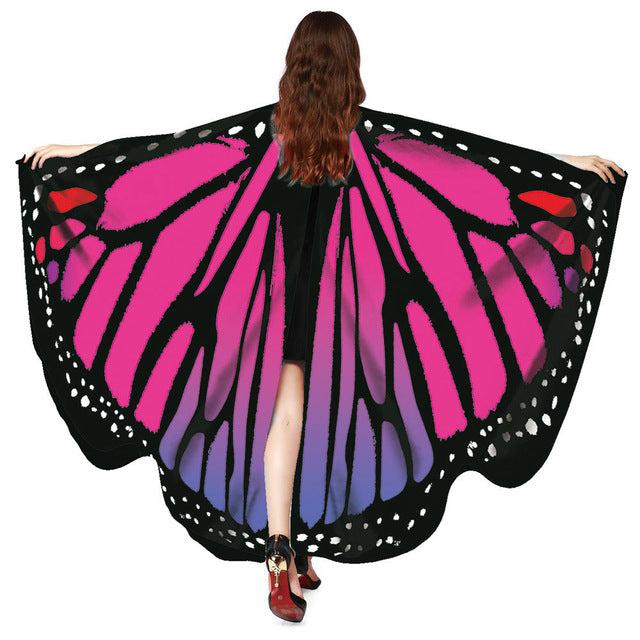 Free Ostrich 2018 Butterfly Wings Fairy Ladies Nymph Pixie Costume Accessory Beach Cover Up Shawl Wrap Drop Shipping C0840-geekbuyig
