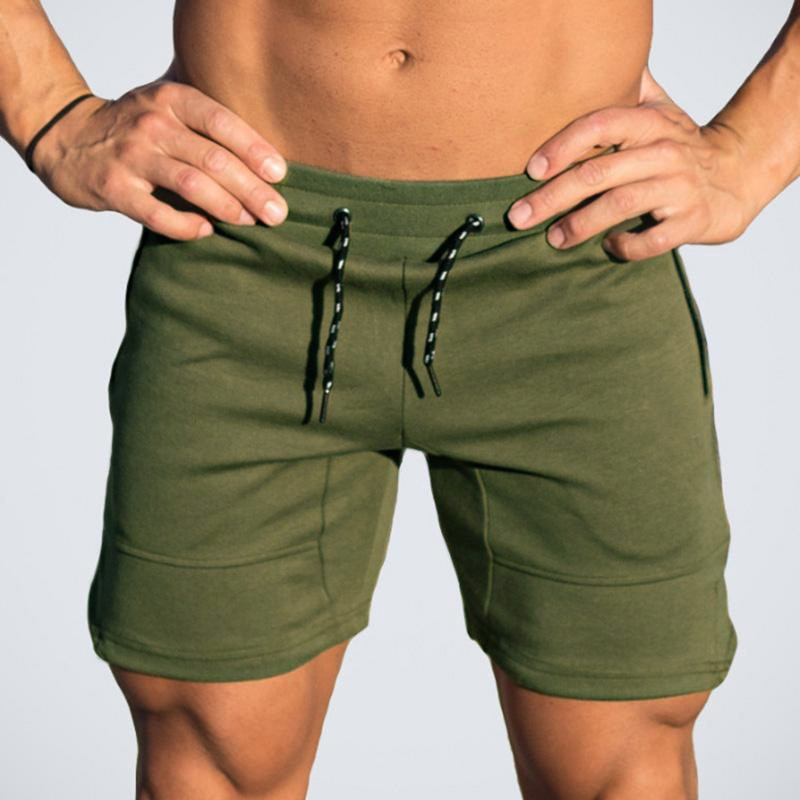 2018 Summer Solid Casual Men Shorts Slim Hot Sale New Brand Men's Shorts GD866-geekbuyig