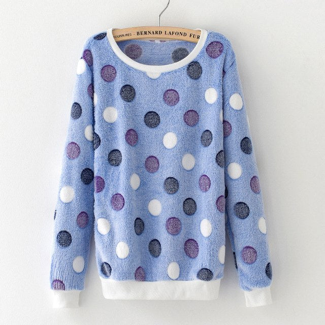Autumn Winter Stars Printed Sweatshirts Long Sleeve O-neck Women Girl Cute Hoodies Pullover Harajuku Tracksuit Tops Christmas-geekbuyig