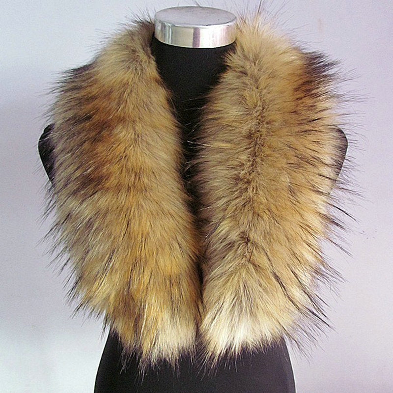 Free shipping On the new 2015 big raccoon fur collar fake fur collar shawl collar fur collar article cap tide female-geekbuyig