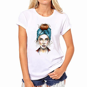 Fashion 2018 Women Tshirts Vincent Willem Van Gogh Printed T-Shirt Hip Hop Tumblr Grunge Aesthetic Outfits Tee Psychedelic Tops-geekbuyig