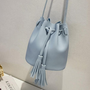 2018 New Women Bag Japan Style Fringes Bags For Women 2018 Drawstring Buckets Single Women Messenger Bag sling bag female pouch-geekbuyig