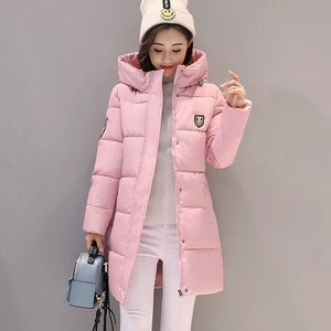 SNOW PINNACLE 2018 Women Parkas Winter Female Warm Thicken Middle-Long Slim Hooded jackets coat Outwear Parkas coat M-3XL-geekbuyig