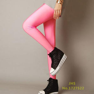 CHSDCSI Sexy Solid Candy Neon Plus Size Women's Leggings High Stretched Deportes Jeggings Aptitud Clothing Ballet Dancing Pant-geekbuyig