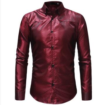 2018 Men's Fashion Casual Long Sleeve Plaid Shirt Slim Men's Social Business Shirt Brand Men's Clothing Soft and Comfortable-geekbuyig