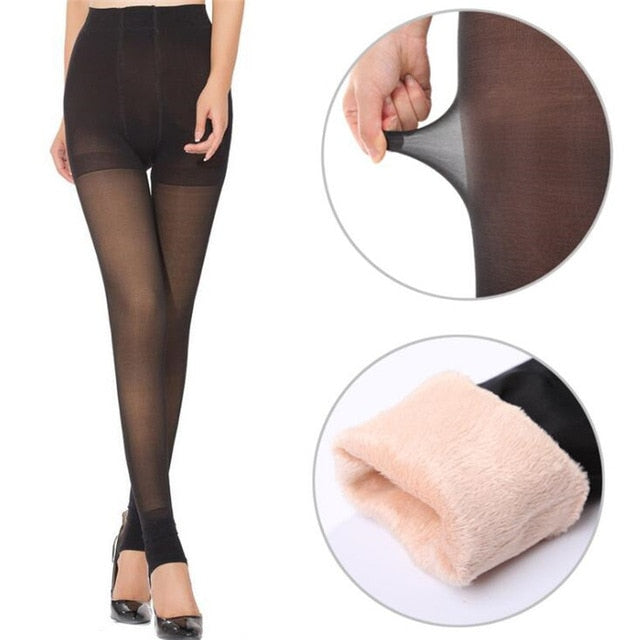 2018 New Leggings Female Super Sexy And Warm Winter Thick Section Of The Waist Of The Women's Super Elastic Winter Leggings-geekbuyig