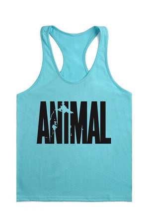 Animal Brand Clothing Workout Vest Gyms Back Tank Top Men Bodybuilding Sleeveless Muscle Tank Top-geekbuyig