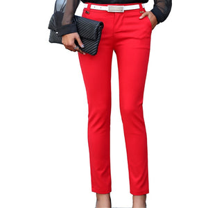 Women Pencil Pants 2018 Autumn High Waist Ladies Office Trousers Casual Female Slim Bodycon Pants Elastic Pantalones Mujer-geekbuyig