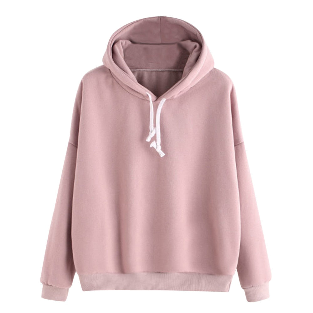 Autumn Sweatshirts Women 2018 Pink Women's Gown With A Hood Hoodies Ladies Long Sleeve Casual Hooded Pullover Clothes Sweatshirt-geekbuyig