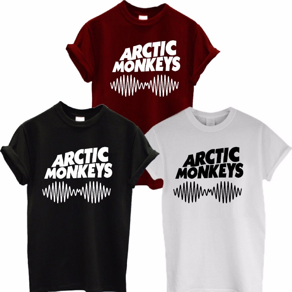 Arctic Monkeys Sound Wave T Shirt Tee Top Rock Band Concert - Album High TSHIRT TShirt Tee Shirt Unisex More Size and Color-A112-geekbuyig