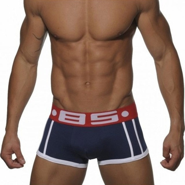 Brand men Underwear boxer Sexy cotton Cuecas Boxers Mens boxer shorts Gay Underwear Man male boy underpants slip B0040-geekbuyig