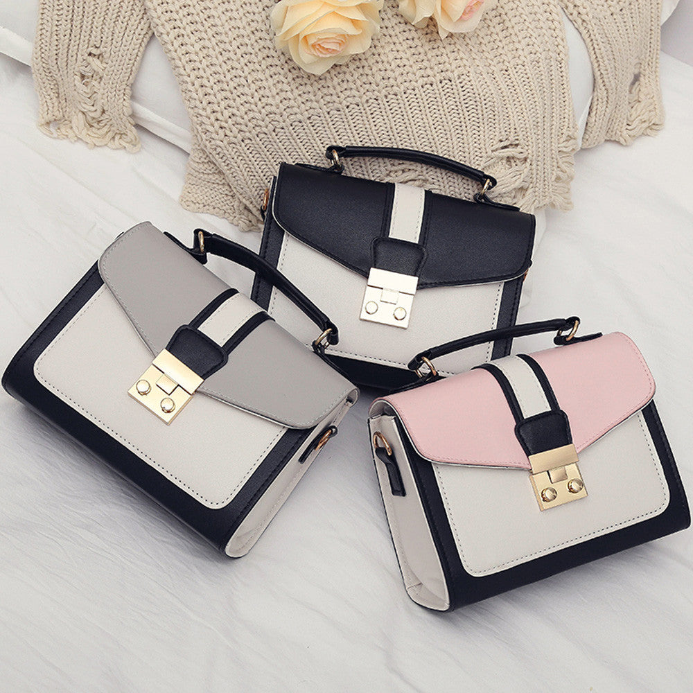 women handbag mini bag woman sling black female Fashion Hit Color Shoulder Messenger Satchel Tote Crossbody Bag bolso mimbre-geekbuyig