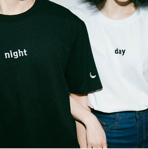 2015 summer Harajuku embroidery letter moon night day sun leisure College Wind women T-shirt-geekbuyig