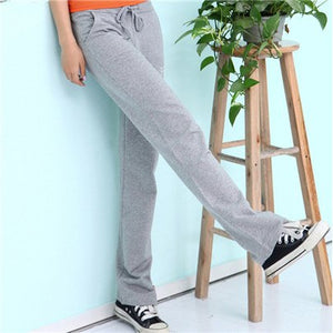 2018 New Arrived Solid Trousers Autumn Drawstring Full Length Women Pant Loose Pants Ladies Dance Elastic Harem Pants Plus Size