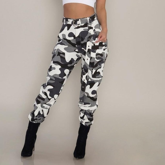 Womail new arrival Womens Camo Cargo Trousers Casual Pants Military Army Combat Camouflage Pants woman pant 2018 L30815-geekbuyig