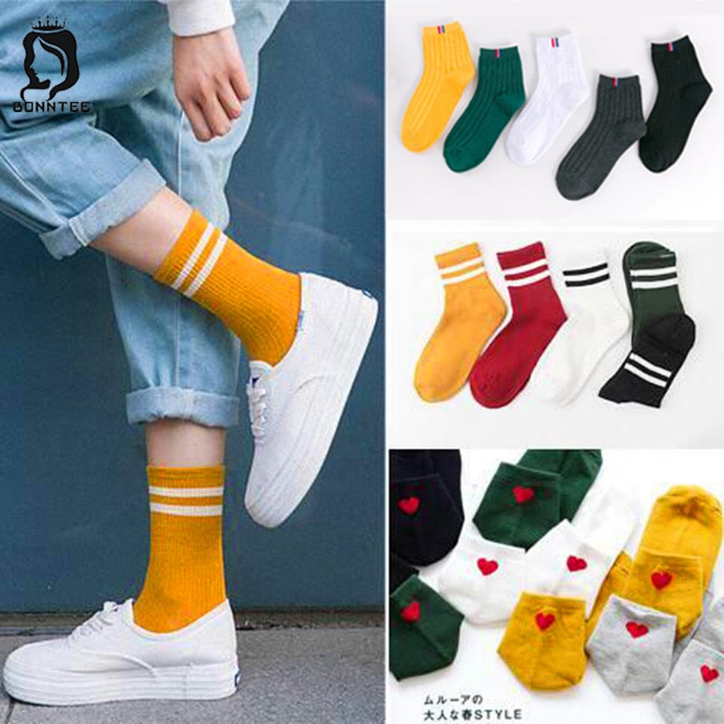 Harajuku Funny Socks Women Various Colors Female Cute Sock Womens Designed School Students Females Korean Style Trendy Ladies-geekbuyig