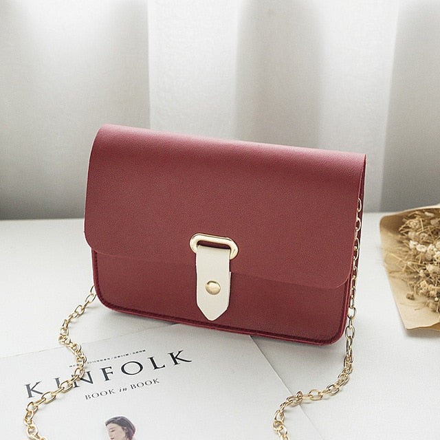 2018 New Fashion Women Messenger Bags Cute Wild Korean Version of The Slung Shoulder Small Square Bag Trend Mini Bolsos Mujer-geekbuyig