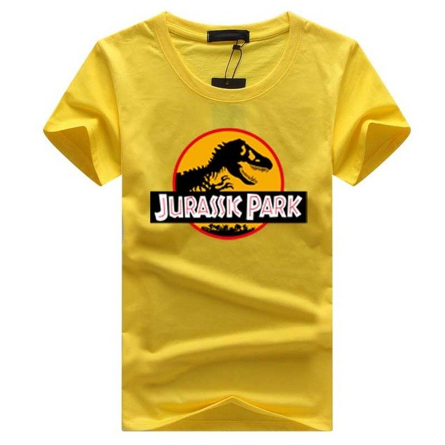 2018 JURASSIC PARK Print Men T Shirt Summer Tops Casual Tee shirt homme Harajuku Hipster White Short Sleeve o-neck fashion tops-geekbuyig