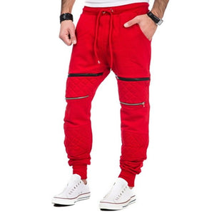 NIBESSER 2018 Men Pants Fitness Elastic Workout Sweatpants Male Casual Zipper Jogger Trousers Loose Gyms Pants Plus Size-geekbuyig