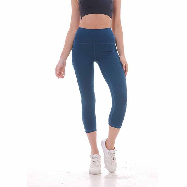 Women Casual Push-Up Slim Sport Leggings Fitness Casual Capris Summer Fashion Workout High Waist Breathable Solid Pants Jeggings-geekbuyig