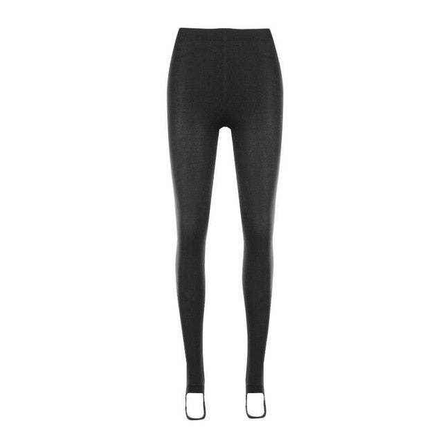 2018 New Women Leggings Winter Warm Pants High Waist Thicken High Elastic Women\'s Warm Slim Velvet Leggings-geekbuyig
