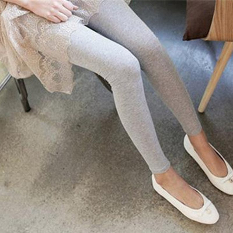 2018 Women Solid Leggings Mid Waist Fitness Legging Thin Full Ankle Length Stretch Pants Basic Leggings Casual Pants-geekbuyig