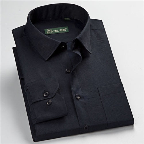 new arrival high quality classic twill business men's shirts long sleeve turndown collar plus size 5xl dress shirt-geekbuyig
