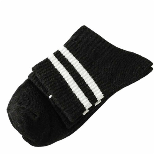 Chamsgend Socks 1Pair Unisex Women Men Harajuku Striped Over Ankle Comfortable Cotton Socks 80125-geekbuyig