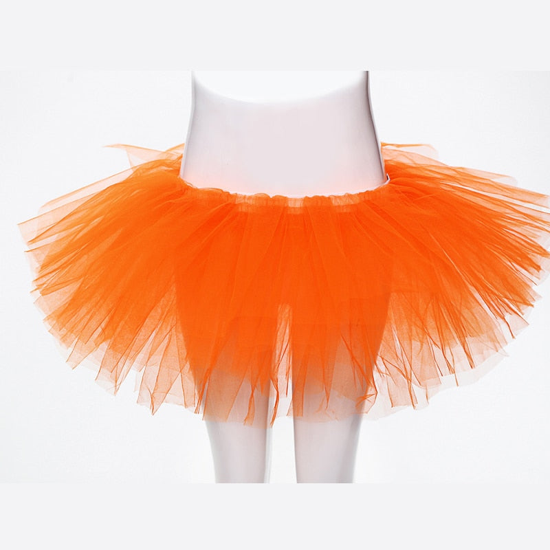 Simple Mini Tulle Skirt A Line Above Knee Short Tutu Skirt Summer Style Women Tiered Skirts-geekbuyig