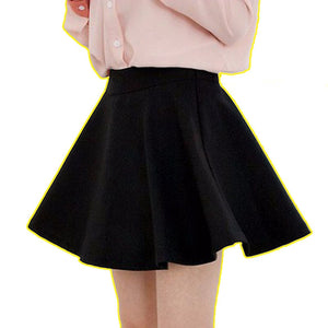 2018 Fashion tide brand A word mini skirt sexy dating summer women skirt high waist candy color tutu Office casual skirt tooling-geekbuyig