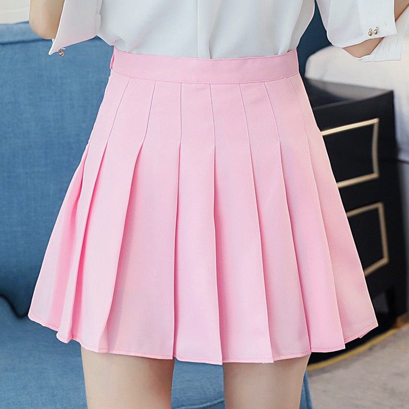 2018 korean style solid color high waist skirt plus size harajuku women mini skirts ladies sexy white skirt women summer skirts-geekbuyig