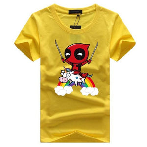 SWENEARO Summer Newest Deadpool Men T shirt Funny Tops Superman lovely Tee Shirt Homme Hip Hop Tee Clothes For marvel Fans shirt-geekbuyig