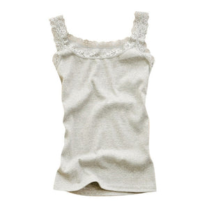 Women Sexy Lace Tank Tops Vest T-shirt Sleeveless Temperament Fashion O-Neck Camisole Top Female Floral Solid Color Homewear-geekbuyig