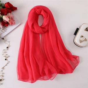 2018 summer women scarf fashion solid color big size silk scarves for lady pashmina bandana winter shawls and wraps hijab stoles-geekbuyig