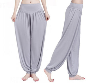 Women Casual Harem Pants High Waist Dance Pants Woman Fashion Wide Leg Loose Trousers Bloomers Pants Womens Plus Size Dropship-geekbuyig