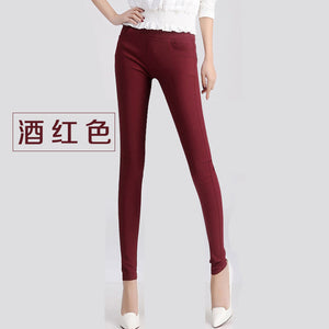Thin Section before after the pocket leggings pencil pants large size women trousers stretch Women Candy Pants Trousers Dames-geekbuyig
