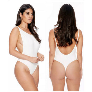 Sexy Sleeveless Backless Bodysuits Bodycon Black Solid 3 Color Female Body Slim Solid Skinny Sexy Club Short Jumpsuits Maillot-geekbuyig
