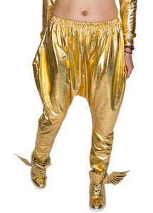 Heroprose Brand 2017 New personality Gold big crotch trousers stage performance costumes harem pants hip hop skinny pants-geekbuyig