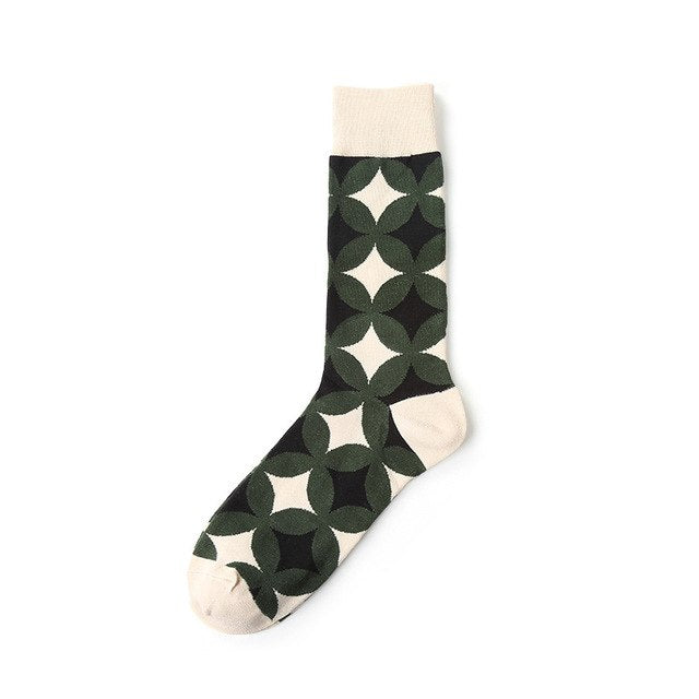2018 New Men Women Cotton Socks Geometry Patten Cool Art Socks Funny socks-geekbuyig