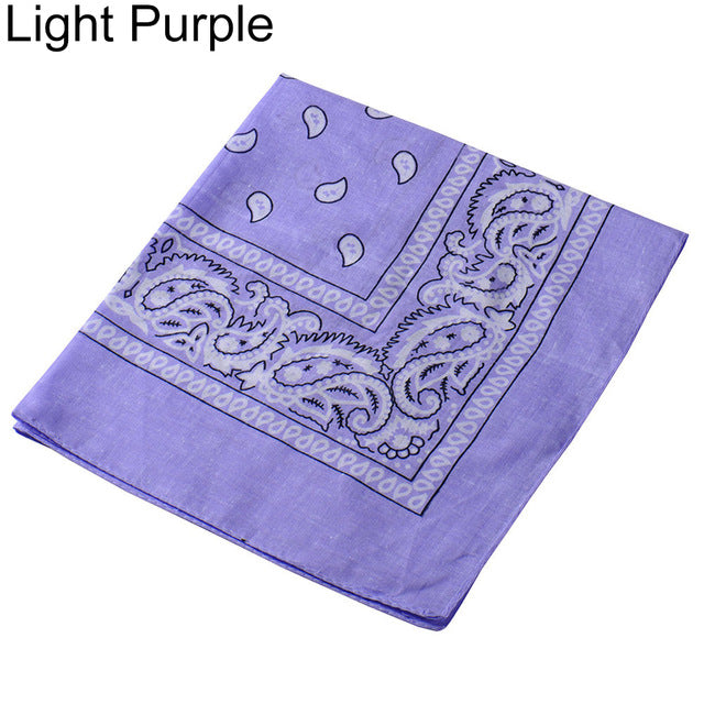 Fashion Paisley Square Bandana Head Wrap Cotton Unisex Hiphop Scarf Neck Mask-geekbuyig