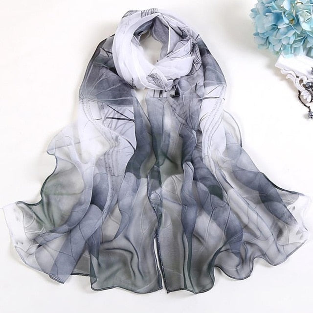 Newest Fashion Women Shawls Lotus Printing Long Soft Wrap Scarf Ladies Shawl Soft Scarves Fantastic Neckerchief Wraps Echarpe-geekbuyig