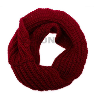 Women Fashion Warm Winter Infinity Circle Cable Knit Cowl Neck Scarf Long Shawl F05-geekbuyig