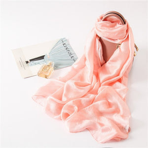 Fashion 2018 solid women scarf lady shawls and wraps smooth soft summer pashmina foulard female hijabs-geekbuyig