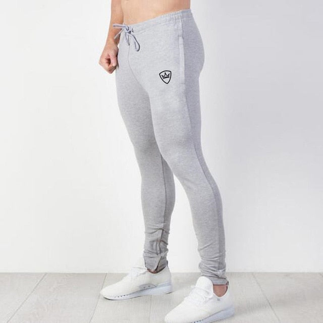 SJ Brand Cotton Pants Men Fitness Casual Elastic Pant Bodybuilding Clothing Casual Sweatpants Joggers CKDP02-geekbuyig