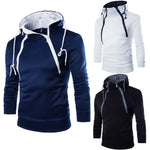 Winter Warm New Casual Men Hooded Sweatshirt Coat Plain Design Hoodie Blank Pullover Hoody Double Zipper Men Hoodies Top Clothes-geekbuyig