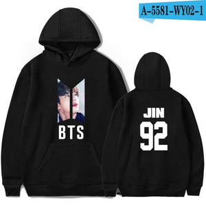 BTS LOVE YOURSELF Bangtan Boys Women Hooides Sweatshirts Mens K-pop Fans Sweatshirts Autumn Winter Clothes 2018-geekbuyig