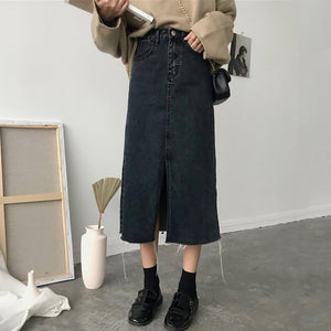 Cheap Wholesale 2018 New Summer Hot Selling Women's Fashion Casual Sexy Denim Skirt L20-geekbuyig