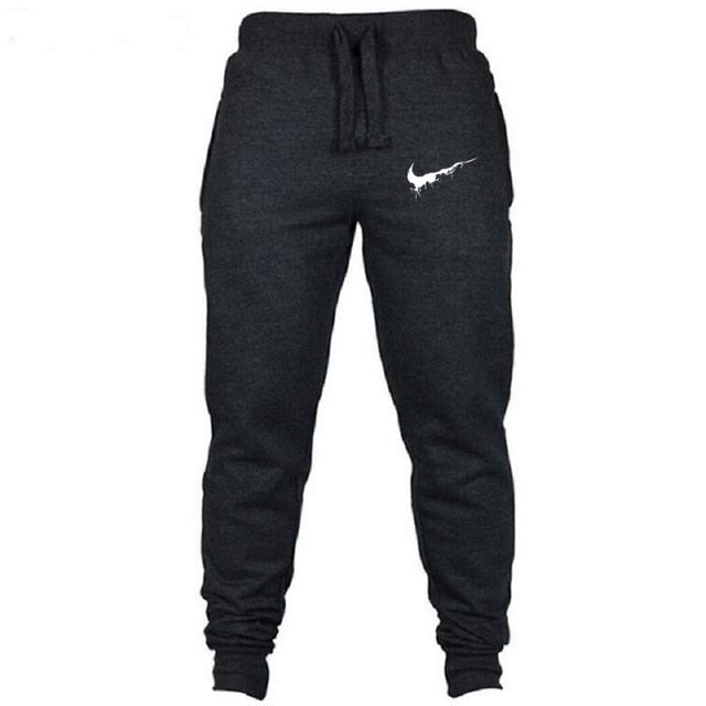 2018Cotton Men full sportswear Pants Casual Elastic cotton Mens Fitness Workout Pants skinny Sweatpants Trousers Jogger Pants-geekbuyig